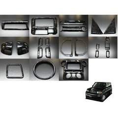 トヨタ bB NCP30系 3Dウッドパネル 22Pブラックウッド インテリアパネル 内装