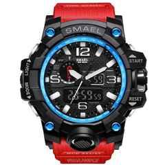 """輸入時計★G-Shock好きに♪7色LED腕時計""""OHSEN""""赤"""