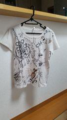 柄物 半袖 Tシャツ ホワイト M