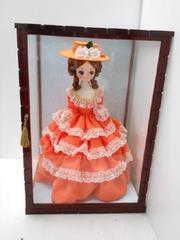 9919◆1スタ◆昭和レトロ 花嫁人形 ケース飾り ドレスドール 35x37x53cm