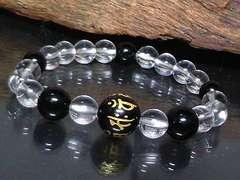 今月の特価十二支梵字オニキス12�_オニキス水晶