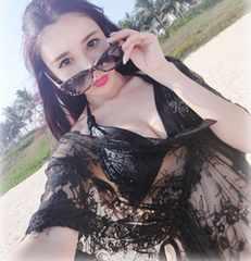 黒の美魔女ビーチカバー