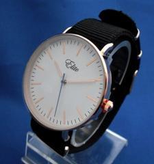 カジュアルベルトウォッチBK/PG-腕時計大