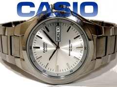 美品 CASIO/カシオ シンプル 10年バッテリー メンズ腕時計