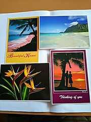 ハワイ ポストカード 4枚セット メッセージ カード Hawaii
