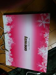 ワンウェイonewayショ袋バック限定ピンククリスマス雪結晶