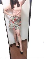*花柄 タイトミニスカート*