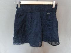 USA購入【Abercrombie&Fitch】レース&フリルミニスカートUS M紺