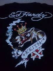 ☆新品[エド・ハーディー]パンサーキング柄 半袖Tシャツ スカジャン好きにも
