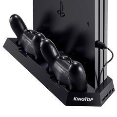 KINGTOP 冷却 新型 PS4 PRO 専用版コントローラー 充電スタンド