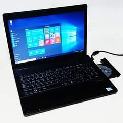 保証付 15.6液晶 EPSON NJ3300 Mem 2GB HDD160GB DVD 無線 Win10