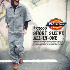 ad0121bsm■DICKIES Short Sleeve COVERALLS (33999) XL灰