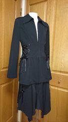 ☆Studio Parisスタジオパリ  リボン使いストレッチニットスーツ