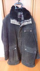 バーバリーブラックレーベル ラビットファー付き黒色ジャケット