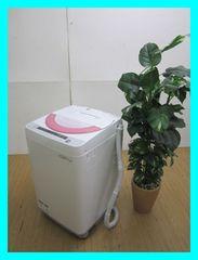 シャープ6,0k洗濯機(穴なし槽カビぎらい)ES-GE60P-Pピンク系2015年製