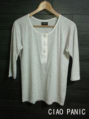 □CIAO PANIC/チャオパニック 7分袖デザイン Tシャツ/メンズ☆美品