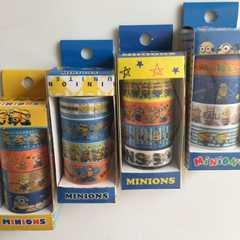 送無 ミニオンズ マステ デコテープ マスキングテープ 4種×4セット