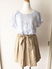 [un dix cors]★切り替えワンピース・半袖シャツ×スカート★