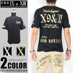 メール便送料無料【G.H.R NINE&THIRTEEN】70737Tシャツ黒金L