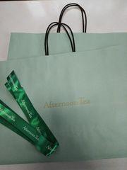 アフタヌーンティー、ショップ袋2枚&リボンset