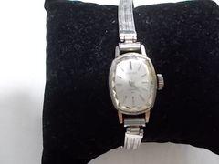 セイコーレディース 手巻き時計 シルバー ベルトフリー