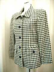 【NOBLE EVE】黒/ライトベージュのジャケットコート