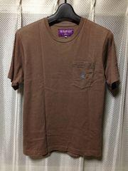 NEPENTHES ネペンテス 胸ポケット 半袖Tシャツ Sサイズ 細身 茶色 日本製