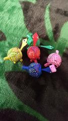 亀の置物:首動く赤べこ