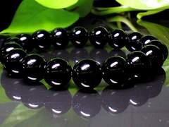 パワーストーン☆天然石!!ブラックオニキス10ミリ数珠ブレスレット§幸福安定