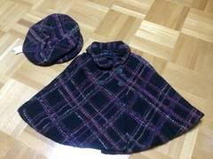 新品☆コムサデモード☆ARTISAN☆コート☆ポンチョ&帽子