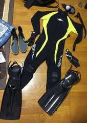 美品&即決.TUSAフルセット.ダイビングスーツ/定価11万円