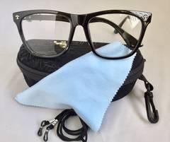 ファッション メガネ めがね イメチェン 黒 眼鏡 防花粉 塵