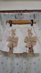 RONI/ロニィ★リボンの可愛いインナーパンツ付きスカート♪サイズML★