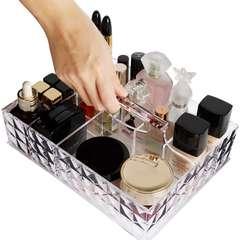 化粧収納ボックス 大容量 ハンドル付き