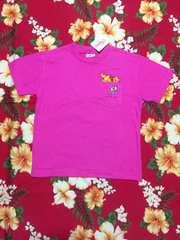 新品タグ付き☆Disney☆可愛いプーさんのピンクTシャツ☆