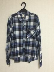 フォーエバー2☆FOREVER21☆チェックシャツ☆ブルー☆長袖