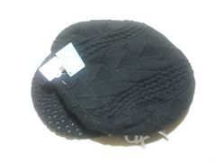 wn80 ROXY ロキシー ニットハンチング帽 ブラック