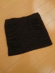 新品タグ付★リップサービス★シャーリングスカート ブラック/F Lipservice 即完売