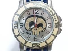 10293/ixa素敵なスカルデザインダイヤルのダイバー型デザインメンズ腕時計★