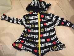 BABYDOLLパーカーワンピ80
