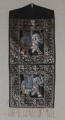 アジア土産、象のレターホルダー布製送料無料新品