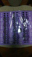アナスイタオルハンカチ 新品即決490 紫 ANNASUI ハート 花柄