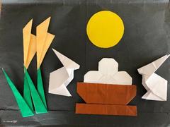 ハンドメイド  折り紙  お月見セット 壁面飾り  幼稚園 施設