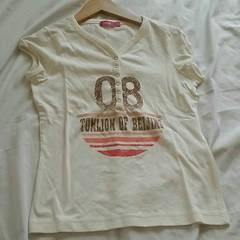 tonlin☆プリントTシャツ(ホワイト,xs)新品