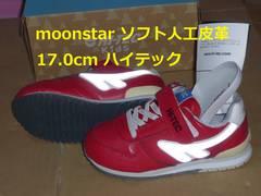 MoonStarレッド17.0cmハイテック人工皮革kid02 kマ