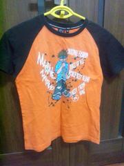 ☆オレンジ×黒半袖Tシャツ140☆