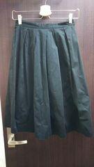 gu 黒 フレアスカート