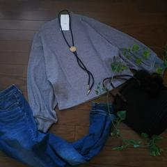 〇VIS〇ぷっくりお袖のリブニットソー*・゜新品