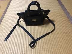 フィリップリム トートバッグ ショルダーバッグ 黒×ゴールド