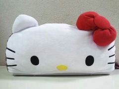 Hello kitty/ハローキティプレミアム カラフルヒョウ柄ティッシュBOXカバー